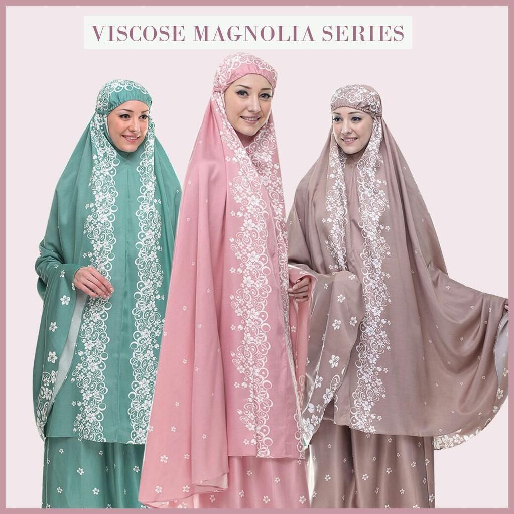 Rumahtazkia Viscose Magnolia Khaki Shopee Indonesia Mukena Tazkia Rayon Jolly Flower Pink