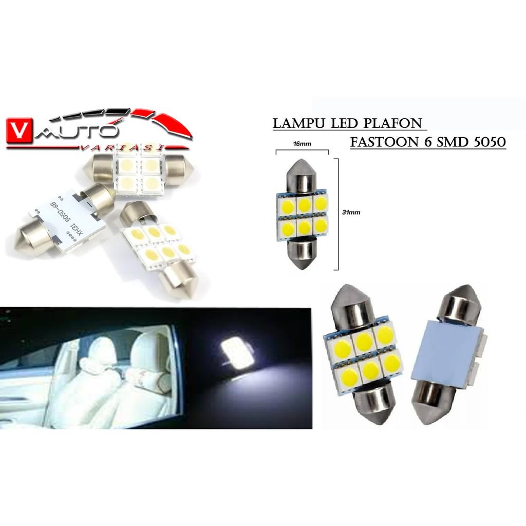 Lampu Led Plafon 6 SMD 5050 6 titik LED Kabin Mobil Festoon 31