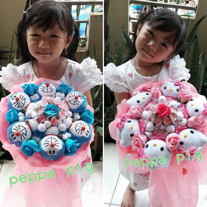 Buket Bunga Boneka Valentine Kado Ulangtahun Hadiah Wisuda Anniversary Best  Quality  34c1ae2d13