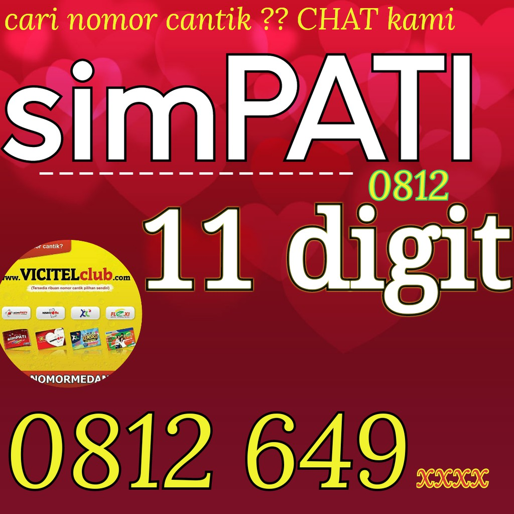 0812 649 7007 NOMOR CANTIK SIMPATI 11 DIGIT VICITEL 0812 6497007 | Shopee Indonesia