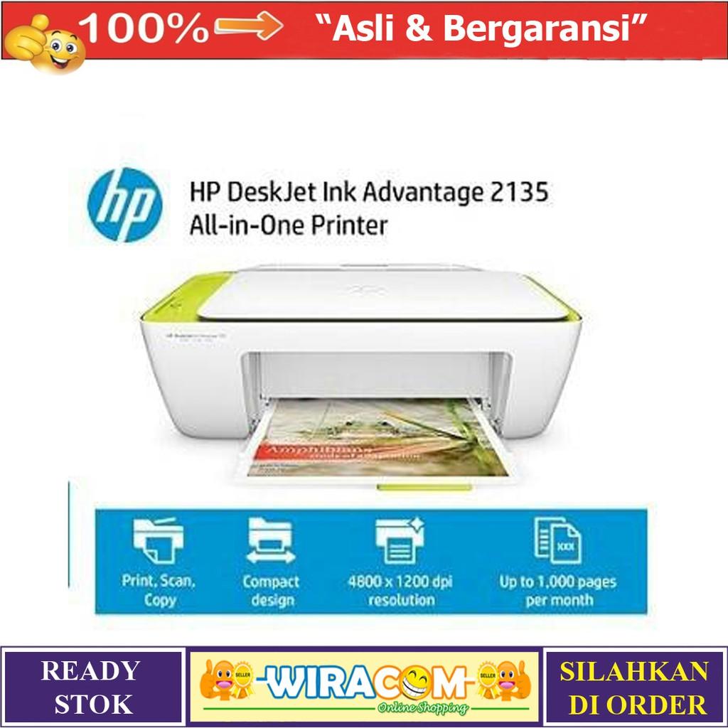 Hp Printer Deskjet Ink Advantage 2135 All In One Putih Daftar Print Scan Copy New Original Shopee