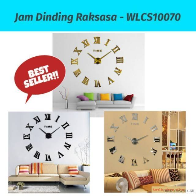 Jam Dinding DIY Tembok Rakit DIY Wall Clock 30-50cm Diameter elet00666  7c793cee50