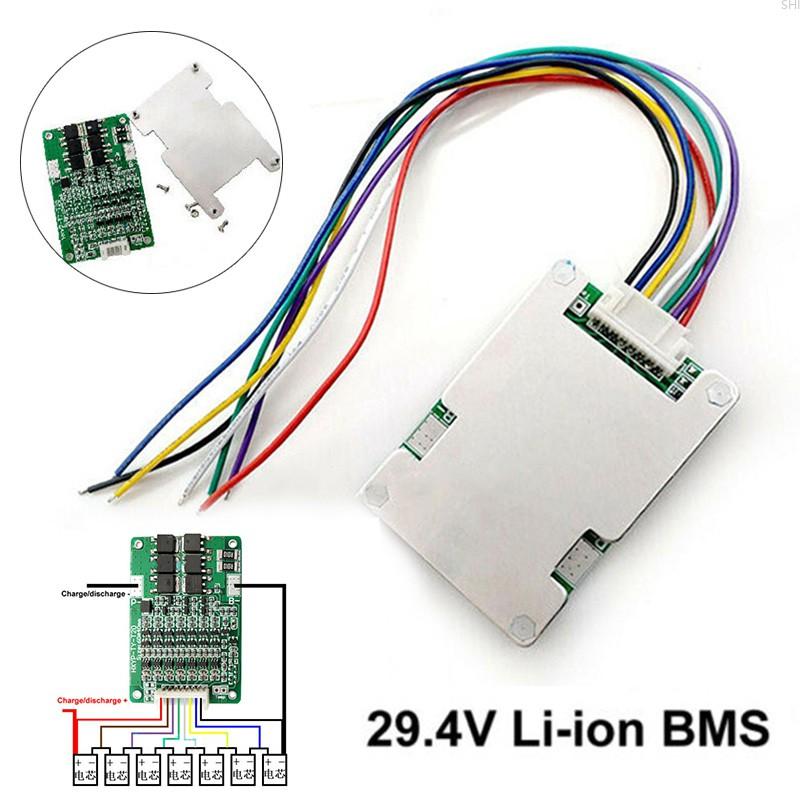 Papan Pelindung Bms 7s 29.4v Dengan Balance Untuk Baterai Li-Ion Lithium 18650