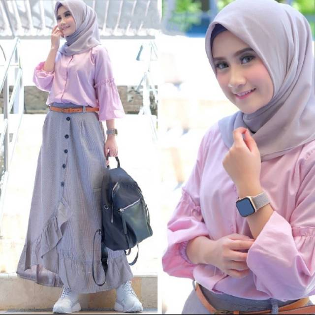 [NEW - Cikka Set / Fashion Remaja Muslim / Baju Setelan ...
