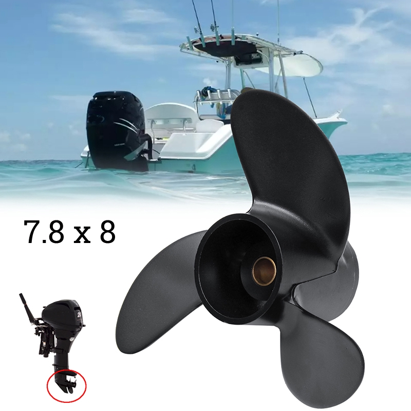 For Tohatsu Nissan Mercury 4-6HP Outboard Propeller Boat Aluminum Latest Useful