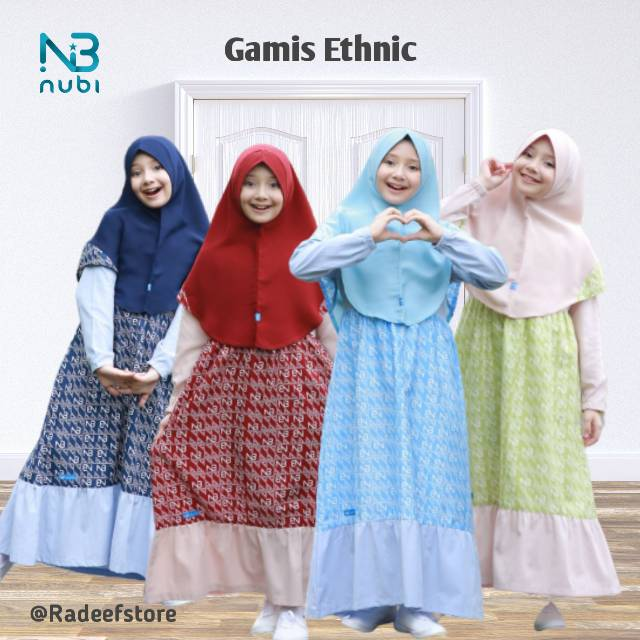 [NEW] Set Gamis Anak Ethnic Series Nubintang | Shopee ...