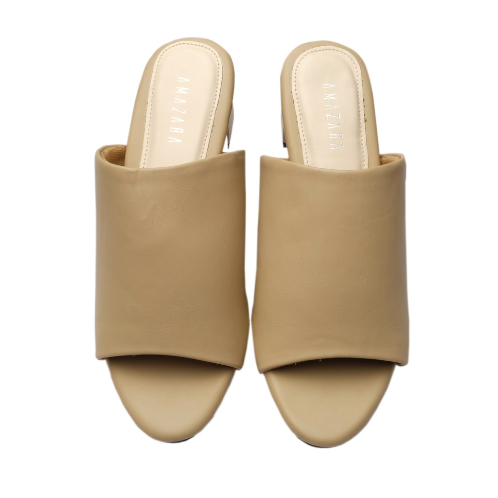 Amazara Jessica Mustard Heels Shopee Indonesia Jordyn Nude Glossy Ivory 36