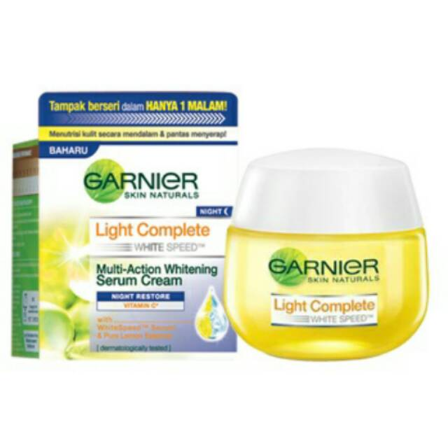 Garnier Light Complete Night Serum Cream 50gr (Night Restore) | Shopee Indonesia