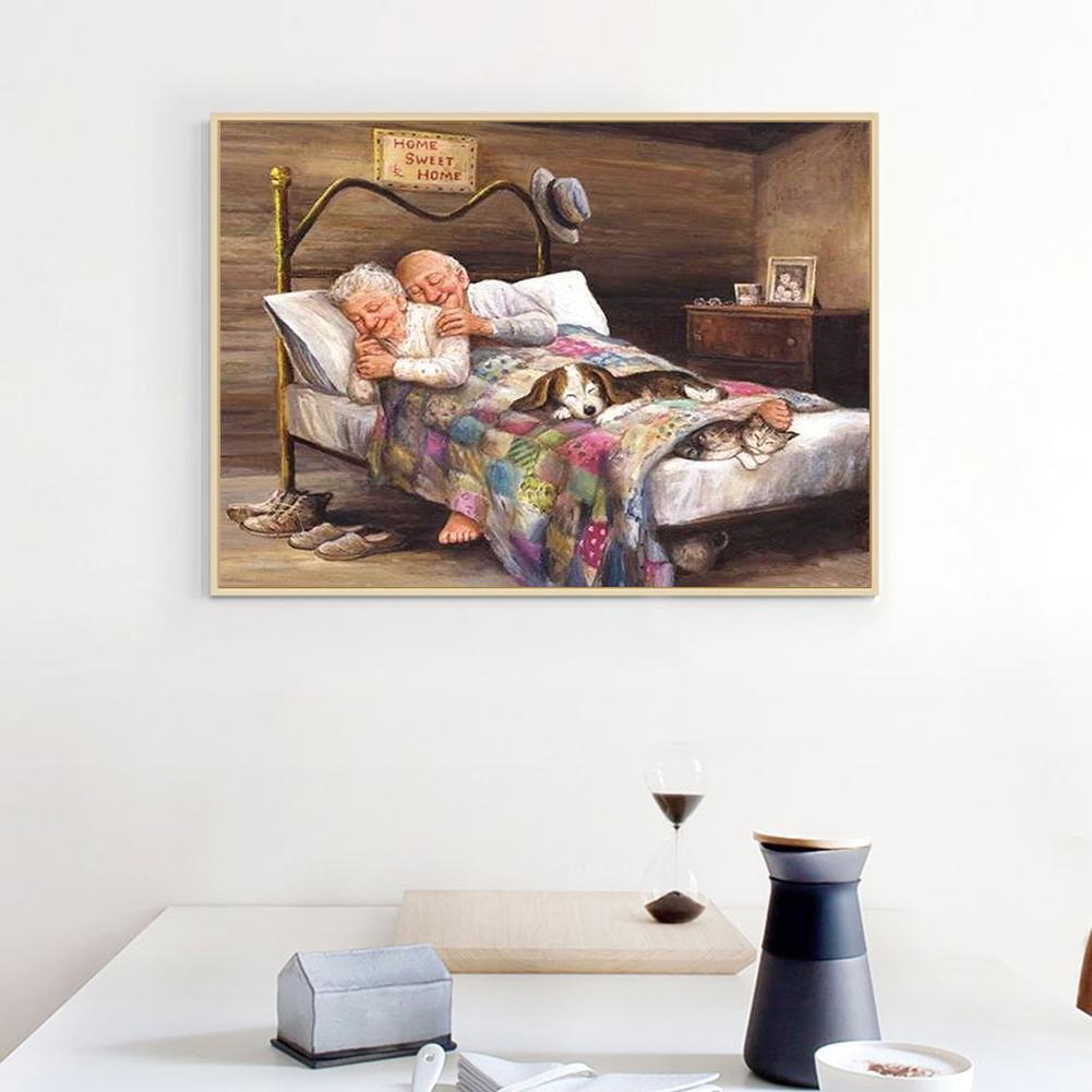 【 D 】 Lukisan Diamond 5D DIY Gambar Pasangan Kekasih Untuk Dekorasi Rumah