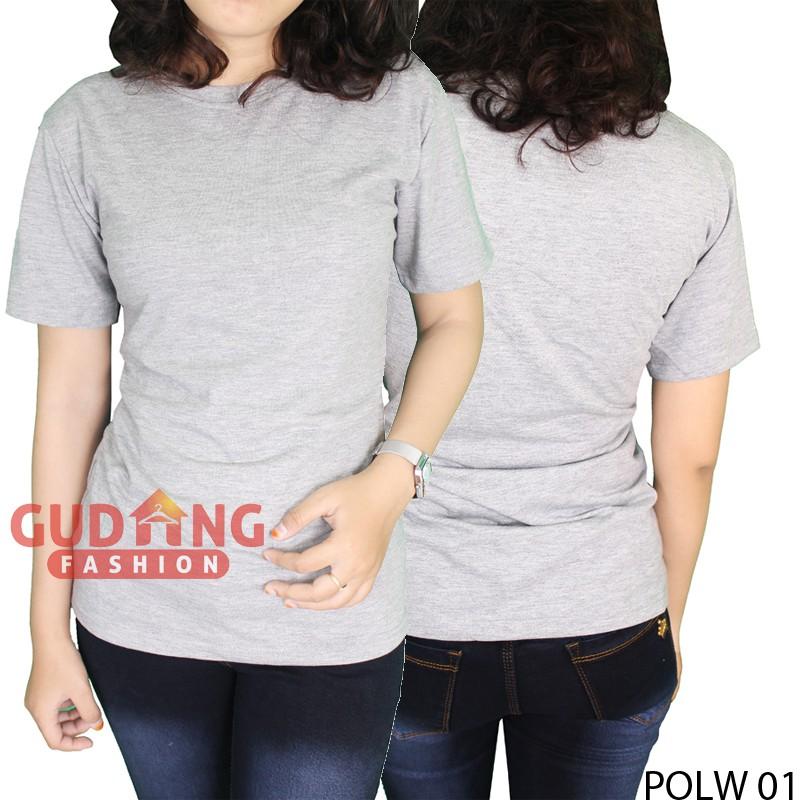 Kaos Lengan Panjang Basic Wanita Cotton Combed S20 Turkis Muda – POLW 40 | Shopee Indonesia