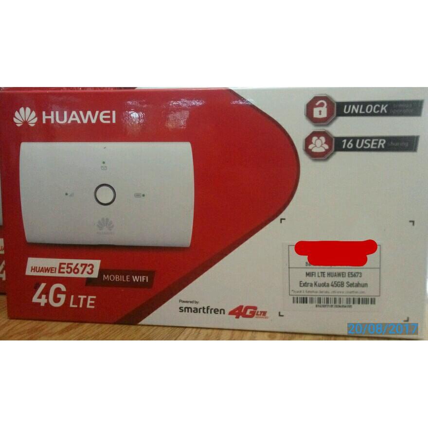 Mifi Modem Wifi Router 4G UNLOCK Huawei E5673 Free Telkomsel Kuota14Gb | Shopee Indonesia