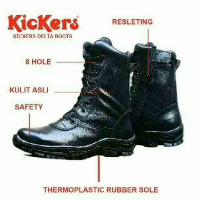 sepatu safety shoes ujung besi tracking boots casual pria kerja kuliah  dinas lapangan pdh pantofel  f84719762b