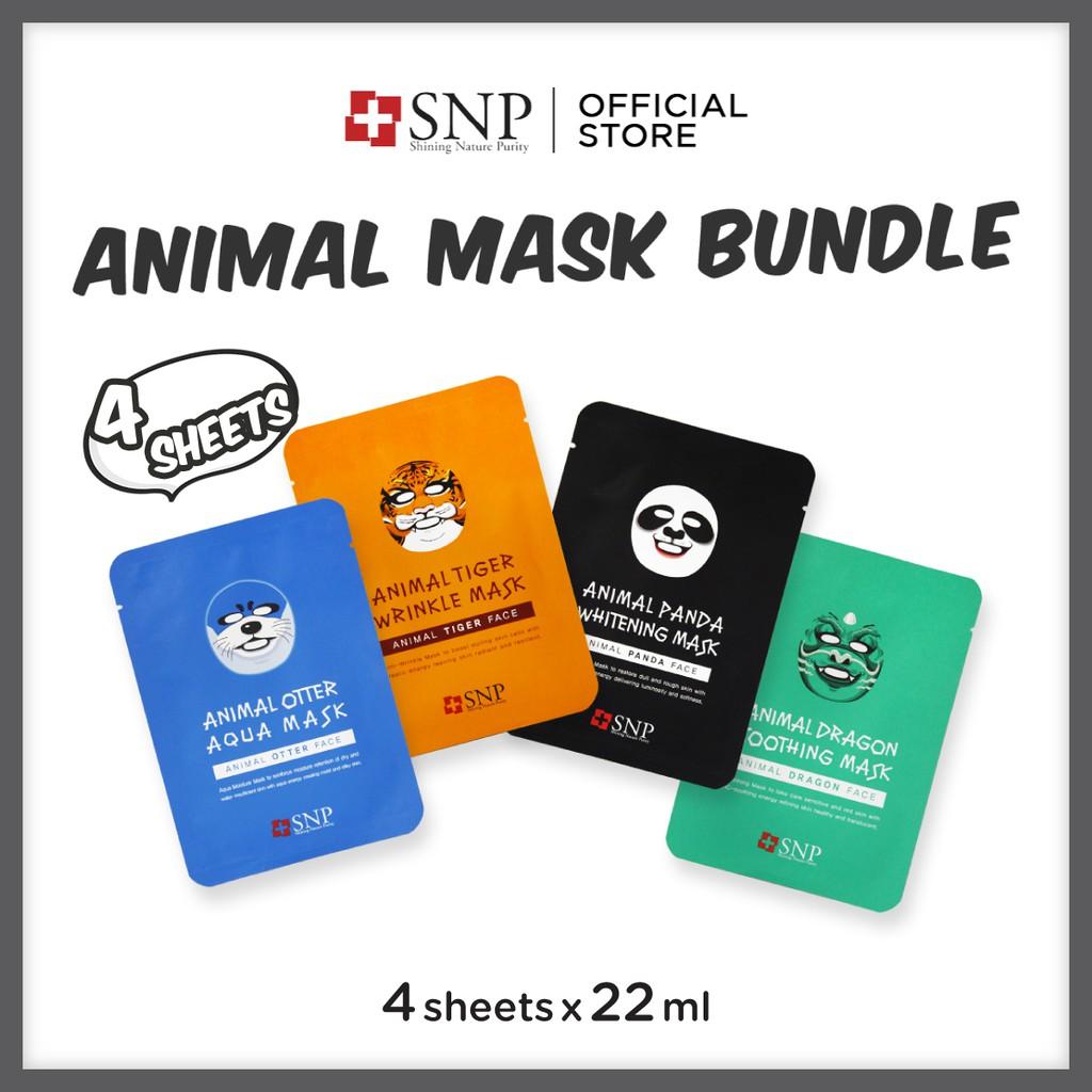 Kesehatan Kecantikan Snp Daftar Harga Kisskozz Be Glow Box Kecil Animal Mask Bundle