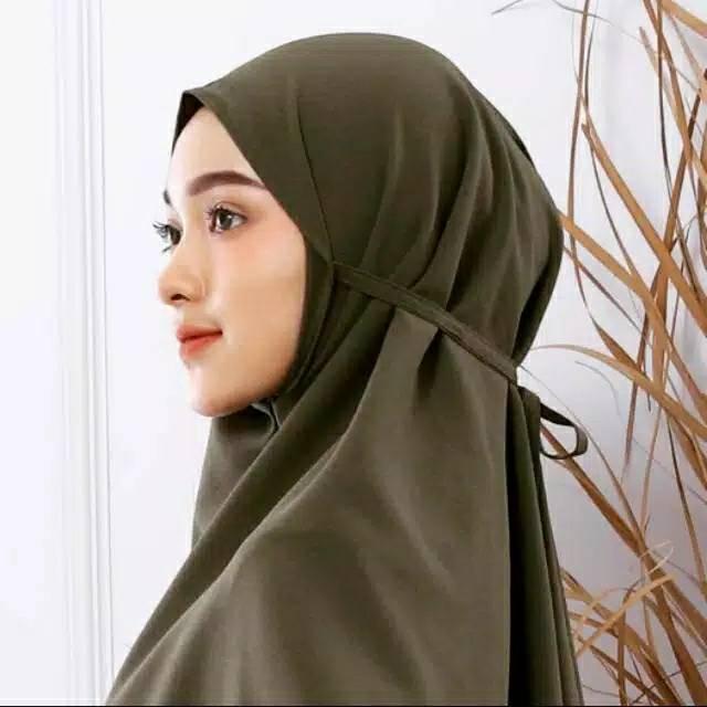 Jilbab Bergo Maryam Bahan Moscrepe Shopee Indonesia