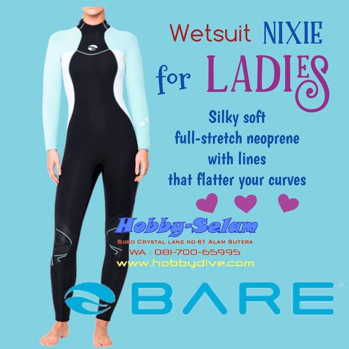 Bare 3//2mm Nixie Full Scuba Diving Wetsuit Women/'s Glacier Blue