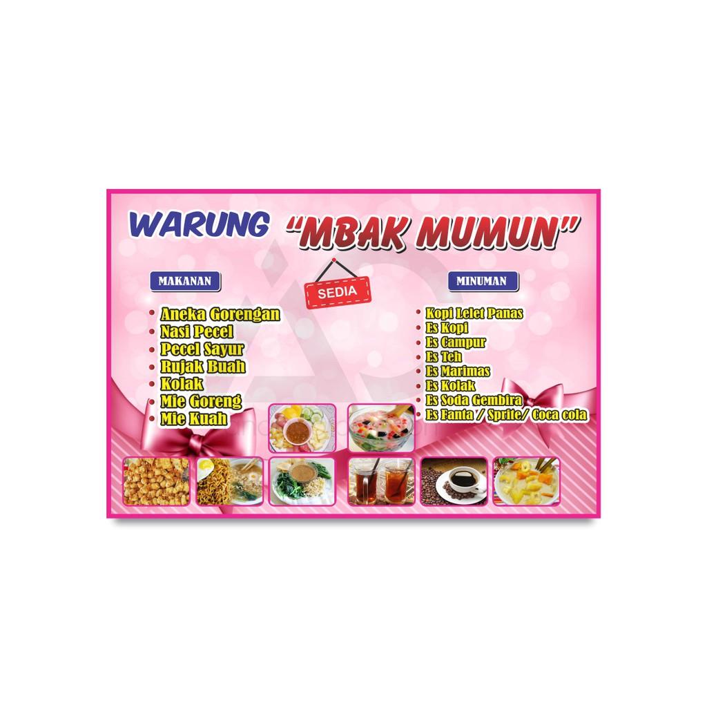 Anqa Banner Spanduk Warung Makan Sembako Mie Ayam Bakso Cetak Banner Toko Bahan Flexi Shopee Indonesia