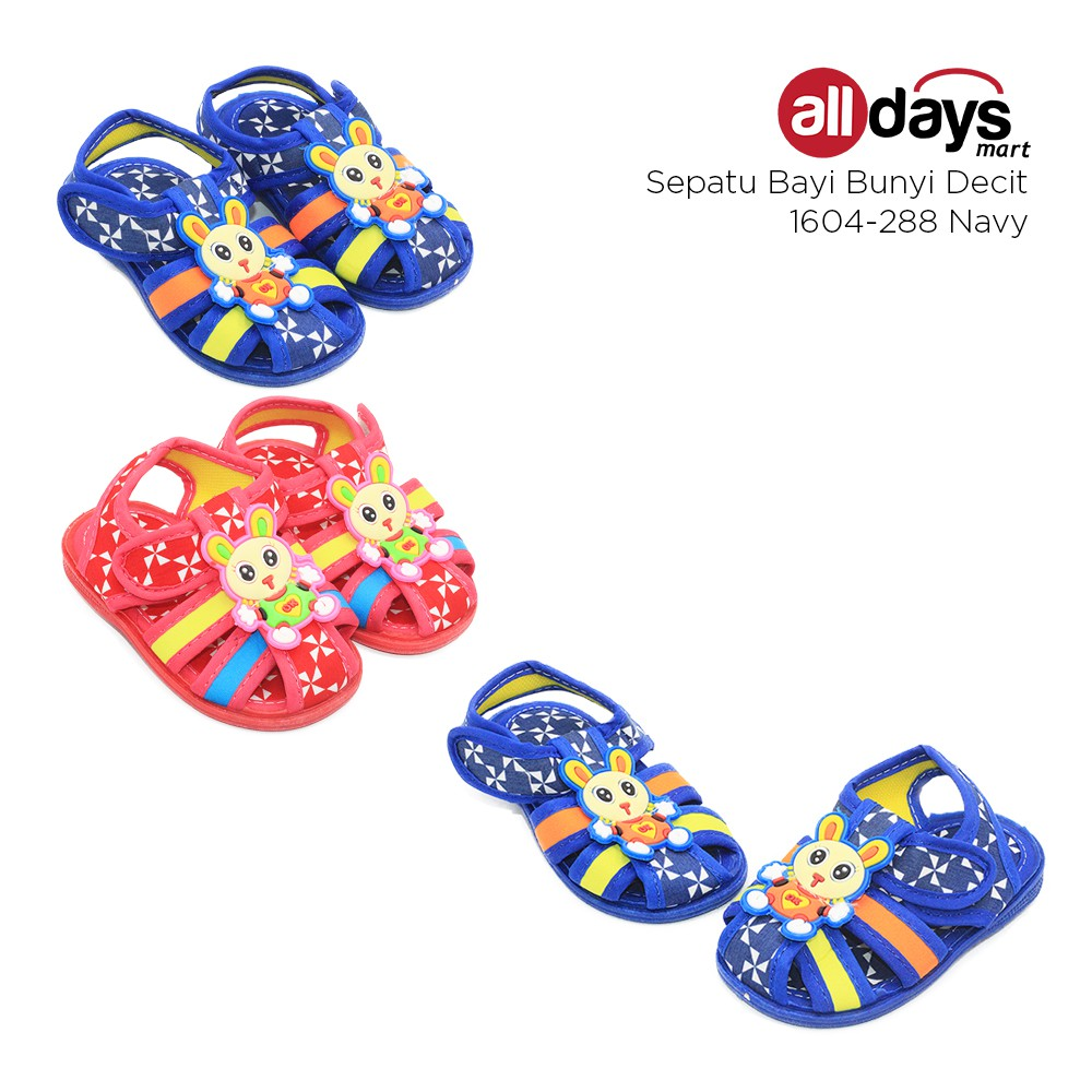 Alldaysmart Sepatu Sandal Anak Bayi 1604 288 Bunyi Decit Blue Lusty Bunny Coklat20