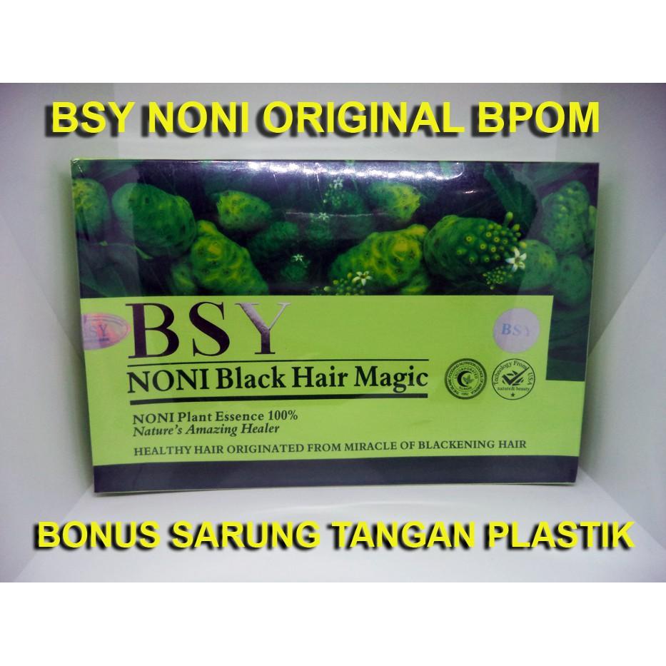 (ADA BPOM N 3 HOLOGRAM) BSY NONI Black Hair Magic | Shopee Indonesia