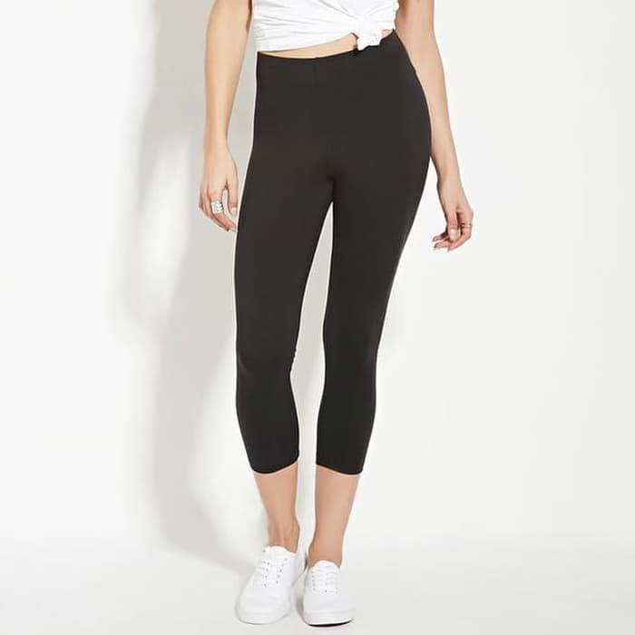Legging Polos Wanita Celana Legging 3 4 Wanita Capri Yoga Fitness Gym Hitam Murah All Size Hitam Shopee Indonesia