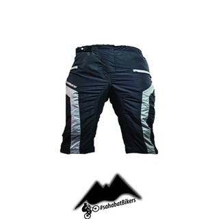 Celana Sepeda Pendek Padding Tidak Ketat 2 Layer Downhill