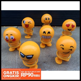 Ld Shop Medan Boneka Emoticon Per Led Berlampu Goyang Kepala Emoji