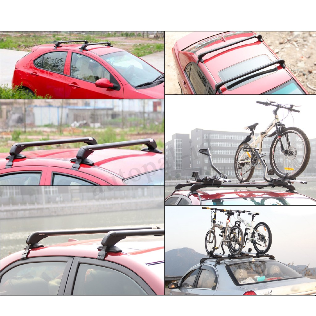 2X Top Roof Cargo Rack Cross Bars Luggage Carrier Gasket Anti-theft For Car SUV