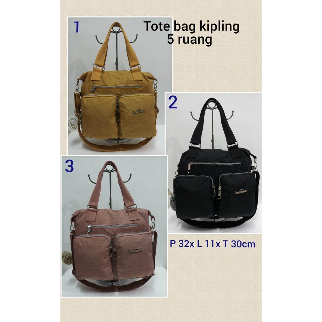 DISKON 45% Tas Selempang Wanita  Tote Bag Kipling Polos 3Ruang + Tali  Panjang Terbaru  eb9502ca50