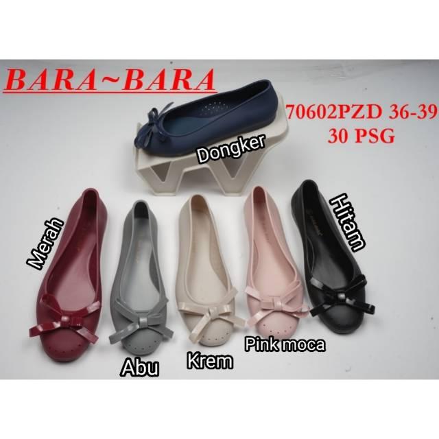 Jelly shoes barabara sepatu wanita flat shoes bara bara 80223pls   Shopee Indonesia