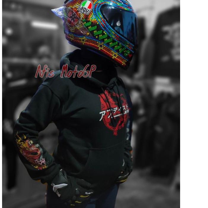LIMITED !! hoodie sunmori japanese limited edition ride with style hoodie kohaku naga tiger agv pist