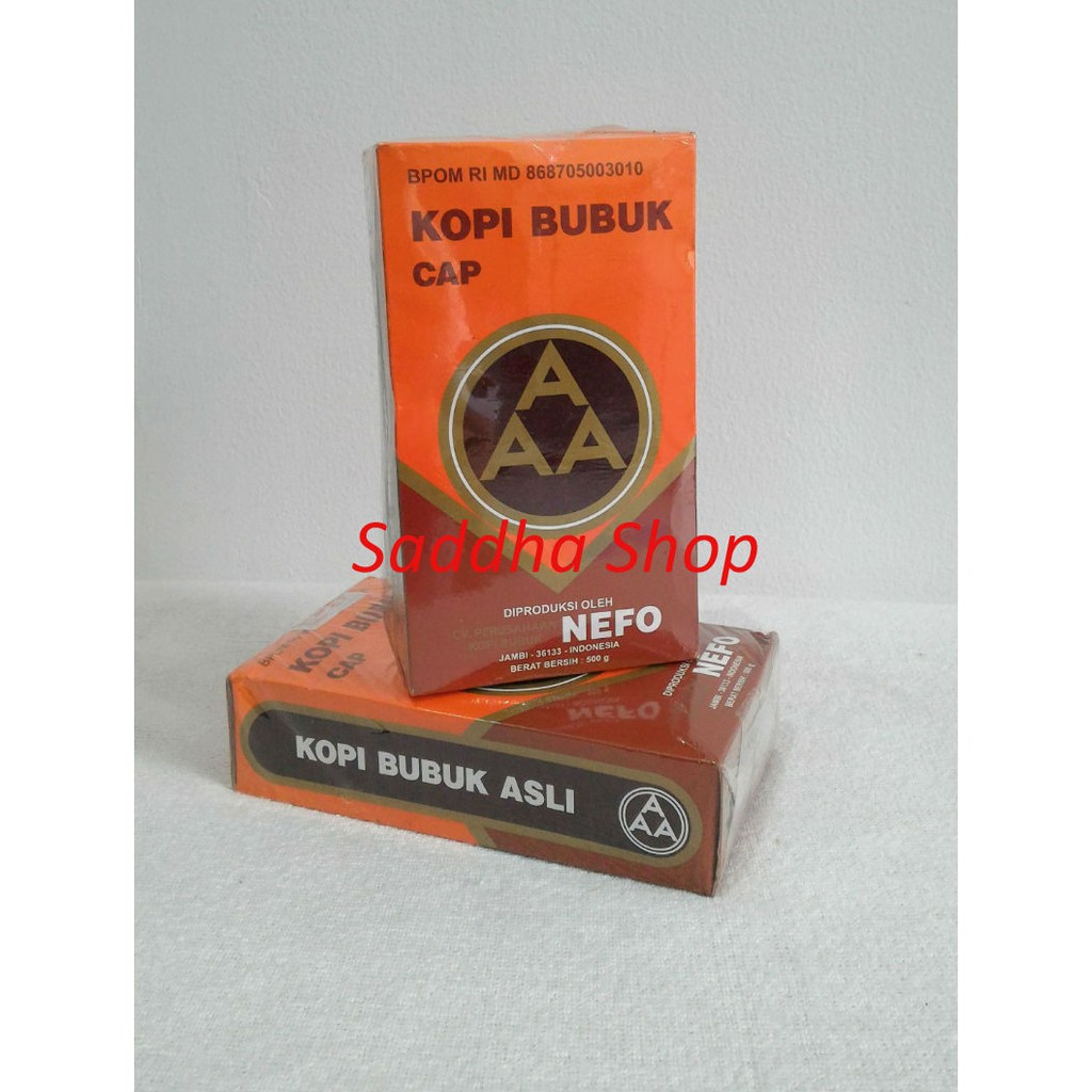Kopi Murni Bubuk Hitam Excelsa Nikmat Asli Cap AAA Nefo Jambi 250 gram | Shopee Indonesia