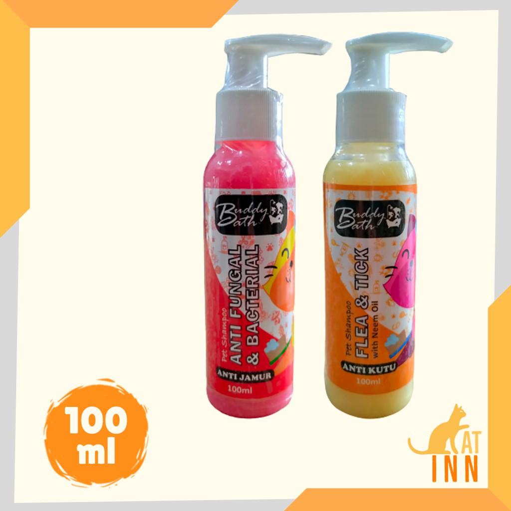 Buddy Bath Sampo Anti Jamur Anti Kutu Kucing dan Anjing 100 Ml
