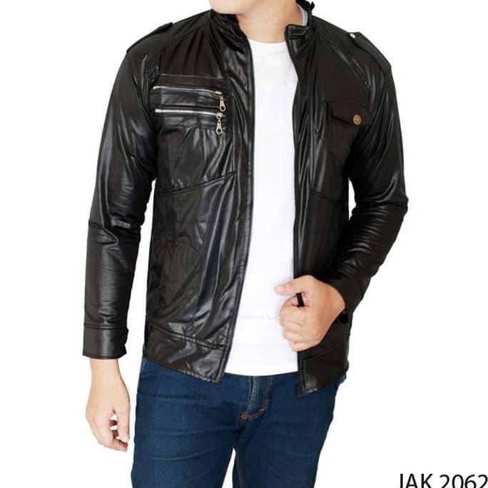 Jaket Pria Keren Metalic Hitam – JAK 2062  e0a62216ea