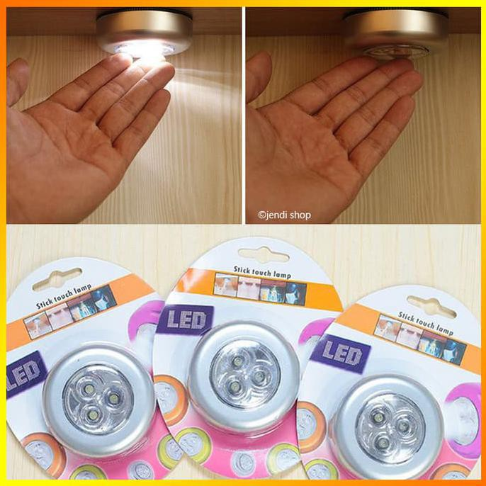 Lampu Emergency LED Tempel Darurat Stick and Click Touch LED Lamp AAA | Shopee Indonesia