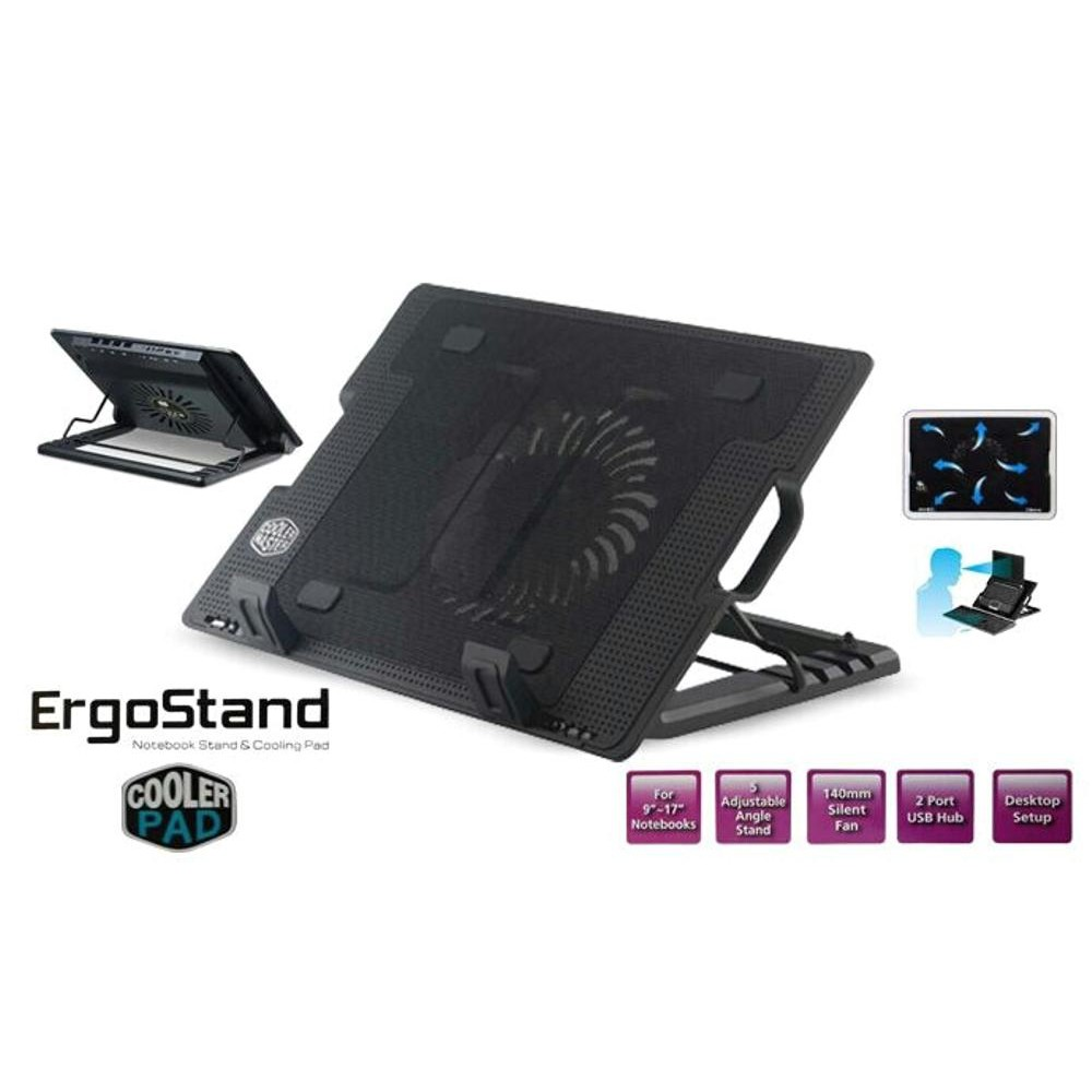 Cooling Pad 2 Fan Standing Coolingpad Coolerpad Cooler 1 Ergostand Kipas Pendingin Laptop Shopee Indonesia