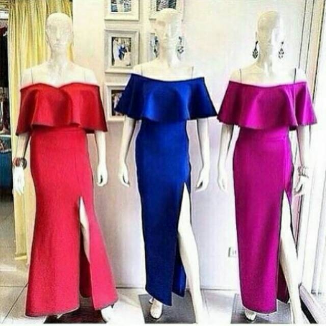 Sabrina Dress Murah Dress Pesta Dress Gaun Gown Dress Big Size Dress