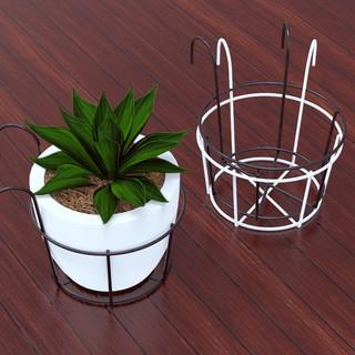 rak pot bunga - gantungan pot bunga bahan kawat besi untuk