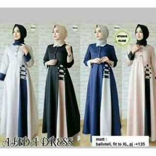 Baju Gamis Wanita Murah Afida Maxi Dress Shopee Indonesia