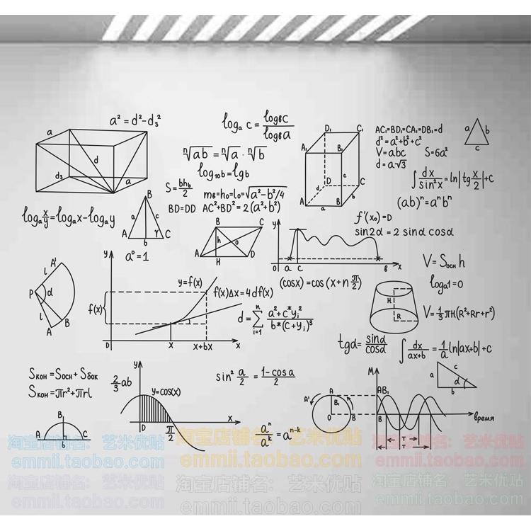 Matematika Rumus Dinding Stiker Asrama Sekolah Kelas Papan Hiasan Dinding Stiker Kimia Matematika Fi Shopee Indonesia
