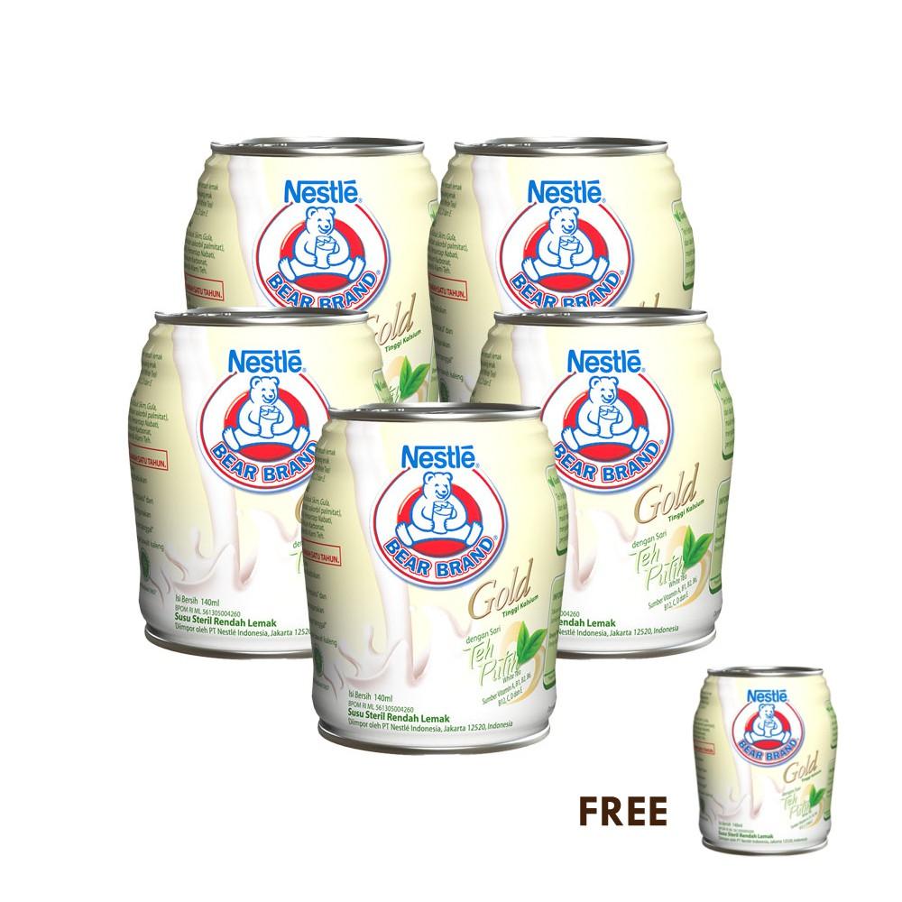 Bear Brand White Malt Minuman Siap Minum 140ml 5 Pcs Free Pouch | Shopee Indonesia