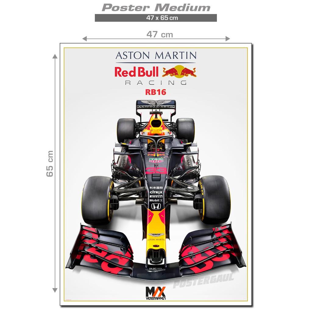 Poster Medium F1 2020 Aston Martin Red Bull Racing Rb16 Max Verstappen Fjp331 Ukuran 47x65 Cm Shopee Indonesia