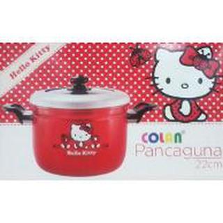 Panci Panca Guna / Panci Kukusan Hello Kitty Colan 22cm Tutup Kaca | Shopee Indonesia