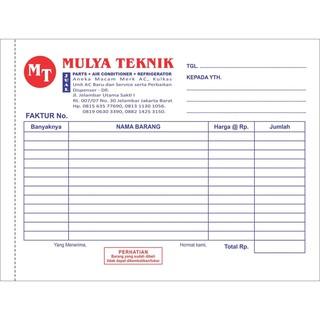 Cetak Notakwitansimemosurat Jalaninvoice Ncr 3 Ply 2 Warna Gratis Desain