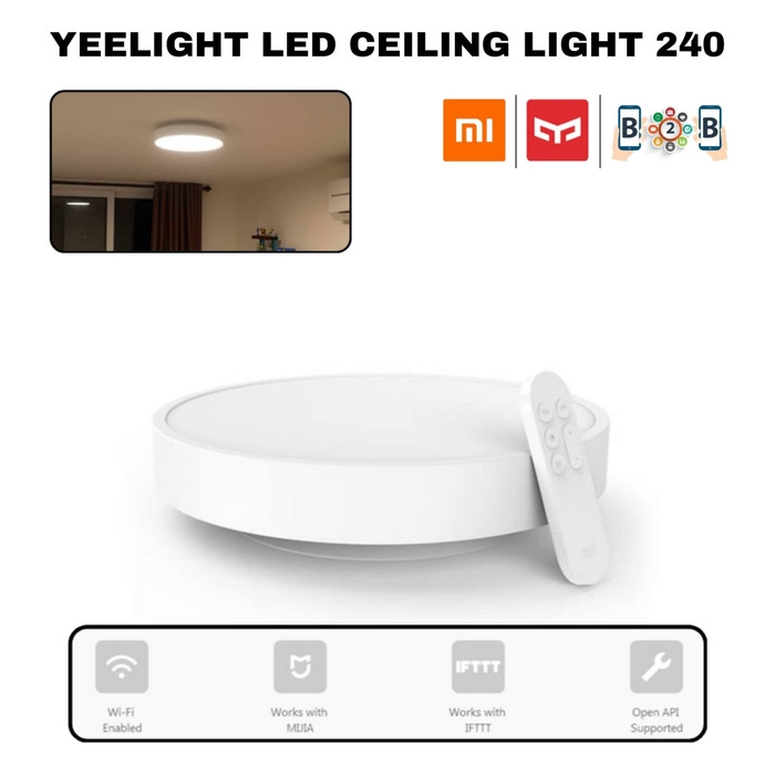 Xiaomi Yeelight Led Ceiling Lamp 240 Smart Led Light With Wifi Shopee Indonesia