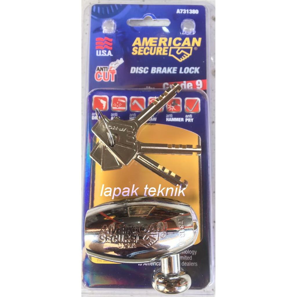 Glow Shop Paket Anti Maling Kunci Stang Plus Gembok Alarm Shopee Disc Lock Triangle Cakram Tdr Indonesia