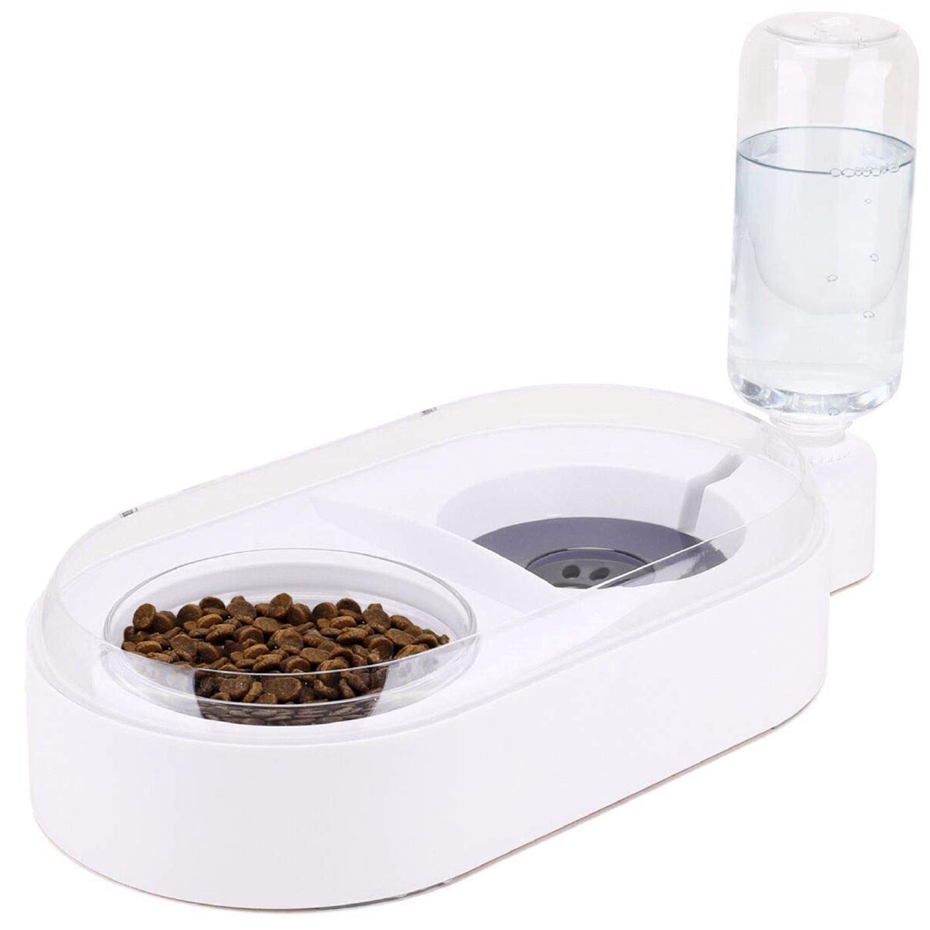 E Els Pet Pets Water And Food Bowl Set For Cat Dog Small Double Bowl Feeder With Automatic Water Dispenser Self Cat Feeder Bowl Shopee Indonesia