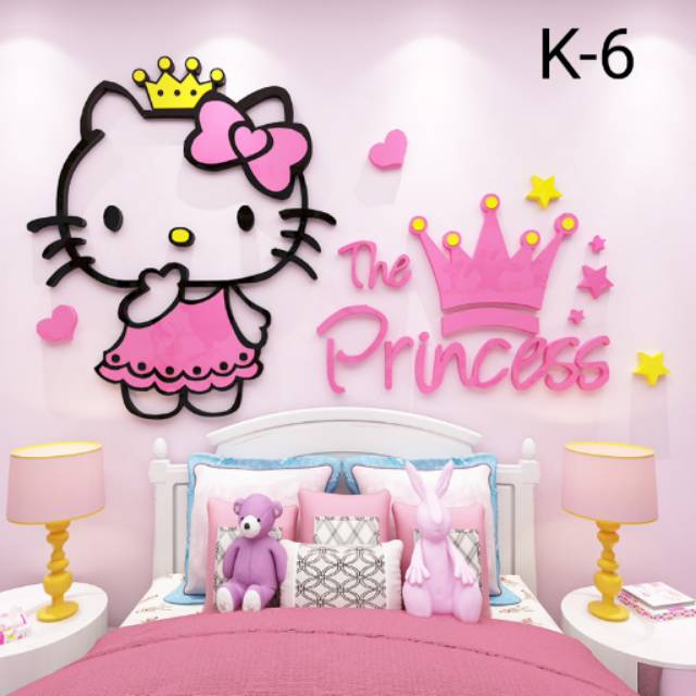 Stiker Dinding 3d Akrilik Hello Kitty Shopee Indonesia