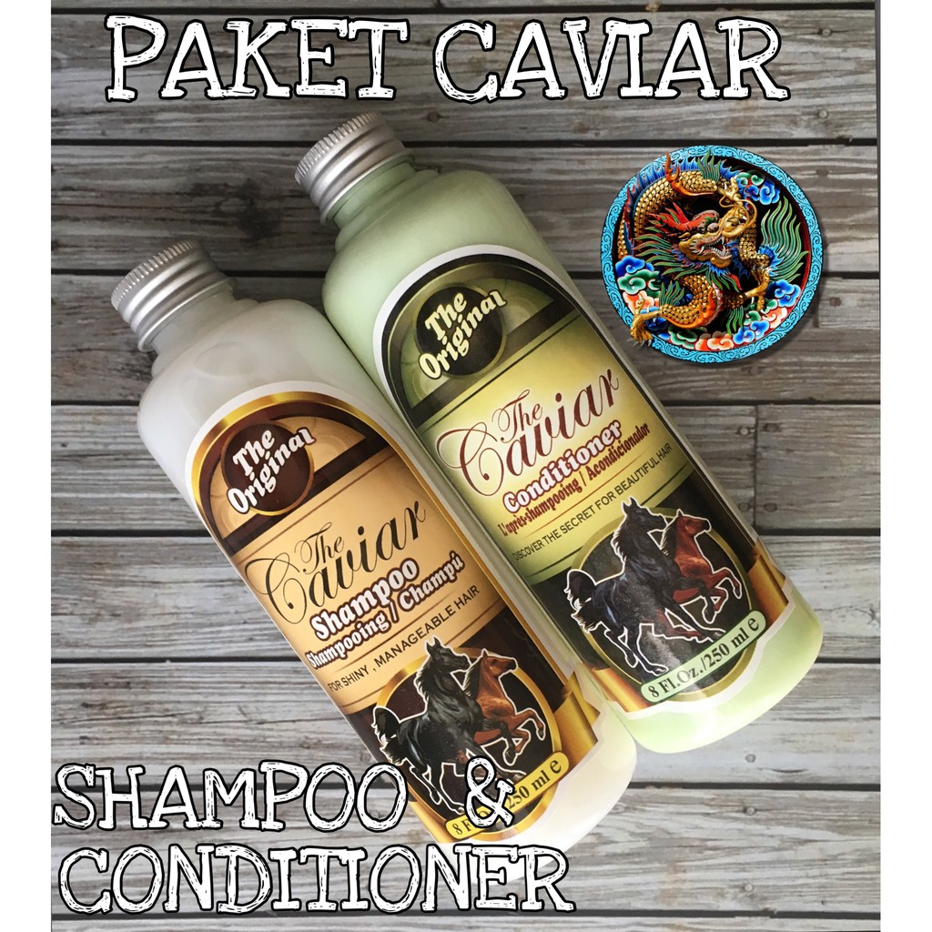 Ori 100 Paket Caviar Bpom Original Shampoo Kuda Conditioner The Jamin Shopee Indonesia