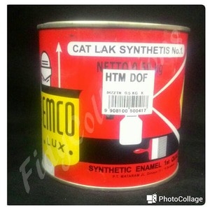CAT  MINYAK CAT  KAYU BESI  EMCO  HITAM DOFF 500GRAM