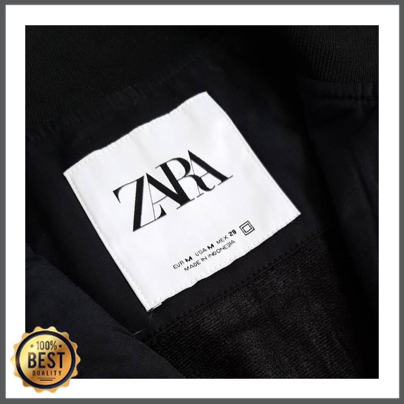 Outerwear Pria -  Zara Men's Technical Bomber Jacket - Black - Hitam, S LA-1209-1139