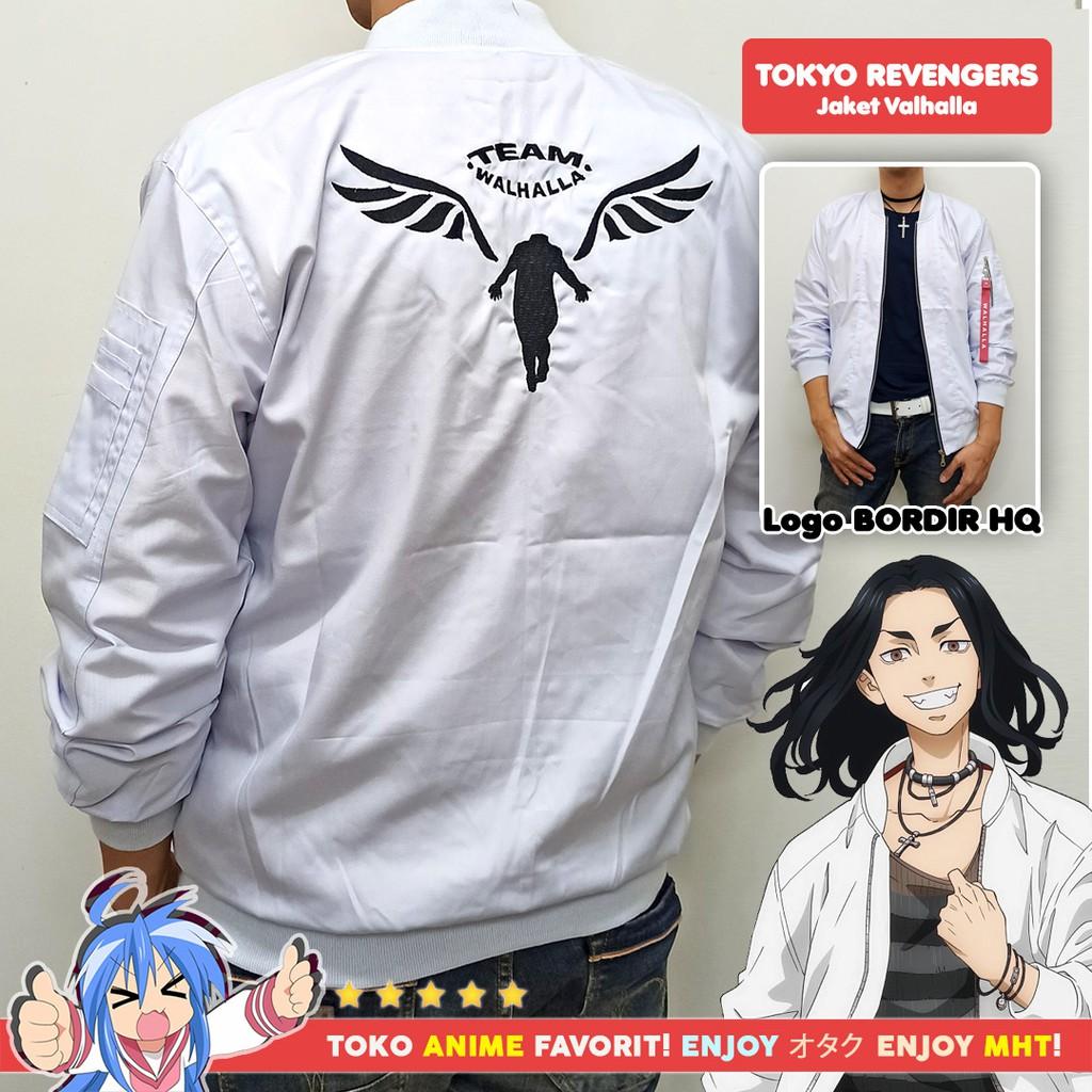 Jaket Bomber Anime Tokyo Revengers Valhalla Keisuke Baji Kazutora Hanemiya Manga Version White Putih